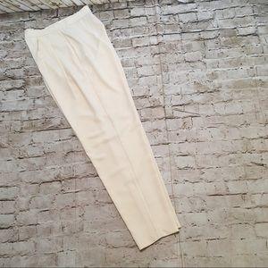 NWOT ASOS high waist pleated cream pants